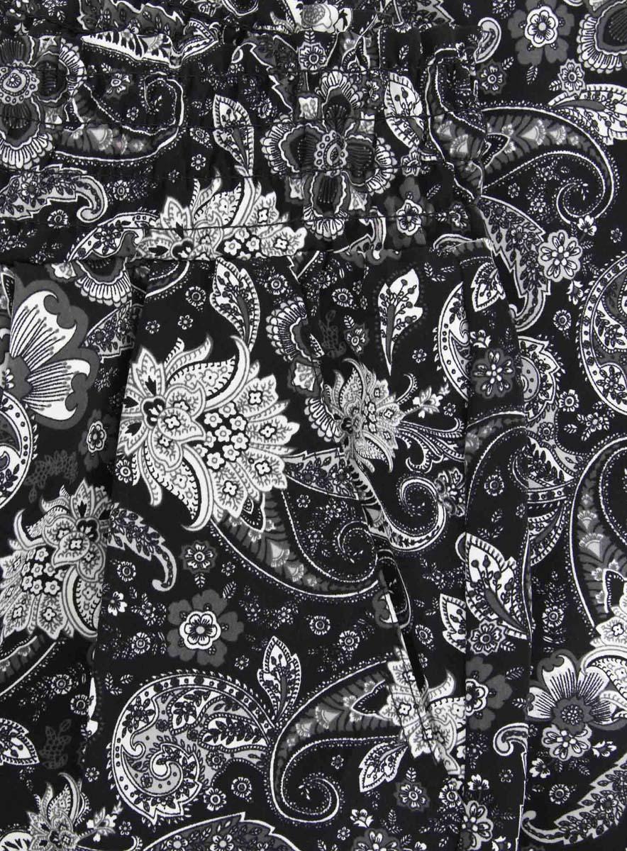 Брюки женские oodji Collection, цвет:  черный, белый.  21700055-3/35184/2910E.  Размер 40-170 (46-170) oodji