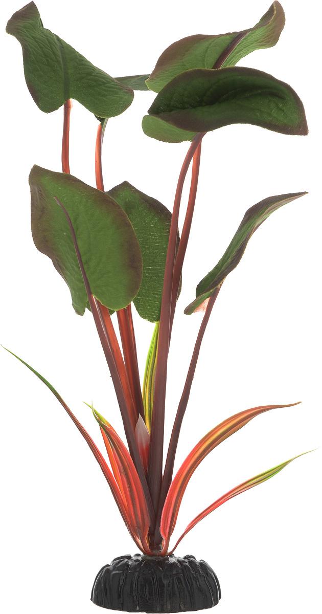 Растение для аквариума Barbus Эхинодорус бархатный, шелковое, высота 20 смPlant 043/20Растение для аквариума Barbus Эхинодорус бархатный, выполненное из качественного шелка, станет оригинальным украшением вашего аквариума. Вводе создается абсолютная имитация живого растения. Можно использовать в любой воде: пресной или морской. Изделие безопасно, не токсично, нейтрально к водному балансу, устойчиво к истиранию краски.Растение Barbus поможет вам смоделировать потрясающий пейзаж на дне вашего аквариума или террариума.Высота растения: 20 см.