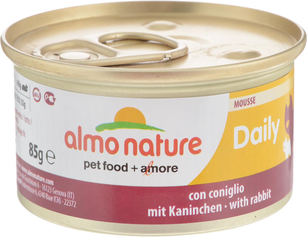 Консервы Almo Nature для кошек, с кроликом, 85 г20348Консервы для кошек Almo Nature сохраняют свежесть каждого кусочка. Корм изготовлен только из свежих высококачественных натуральных ингредиентов, что обеспечивает здоровье вашей кошки. Не содержит ГМО, антибиотиков, химических добавок, консервантов и красителей.Состав: мясо и его производные (кролик 4%), минералы, экстракт растительных волокон.Добавки: витамин A 1110 IU/кг, витамин D3 140 IU/кг, витамин E 10 мг/кг, таурин 490 мг/кг, сульфат меди пентагидрат 4,4 мг/кг (Cu 1.1 мг/кг).Технологические добавки: камедь кассии 3000 мг/кг.Пищевая ценность: белки 9,5%, клетчатка 0,4%, масла и жиры 6%, зола 2%, влажность 81%.Товар сертифицирован.