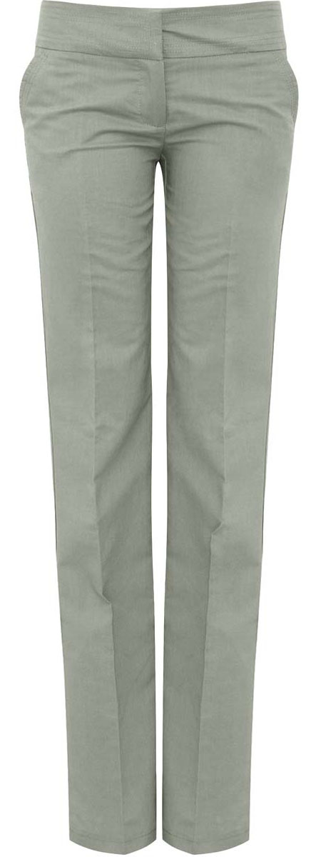 Брюки женские oodji Ultra, цвет: серо-зеленый. 11706132-1/42721/6000N. Размер 38-170 (44-170)11706132-1/42721/6000NСтильные женские брюки oodji Ultra изготовлены из качественного рами с добавлением хлопка. Модель прямого кроя со стандартной посадкой выполнена в лаконичном стиле. Застегиваются брюки на два потайных крючка в поясе и застежку-молнию. Спереди изделие оформлено двумя втачными карманами, а сзади двумя карманами-обманками.