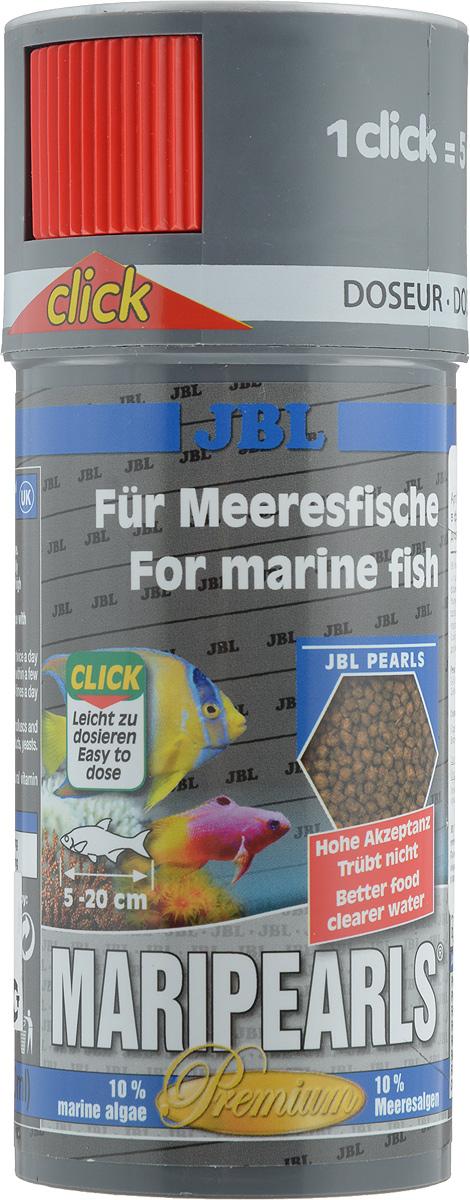 Корм JBL MariPearls для морских обитателей, в форме гранул, 140 г (250 мл)JBL4066100Корм JBL MariPearls содержит комбинацию питательных веществ, подобранную специально для рыб, обитающих в морской воде, в новой жемчугообразной форме, которая наилучшим образом соответствует тактике питания этих рыб. Наличие морских водорослей и растительного сырья заботятся о сохранении здоровья рыб. Жизненно важные витамины, ненасыщенные жирные кислоты и каротиноиды укрепляют иммунитет и обеспечивают здоровый рост.Рекомендации по кормлению: 2-3 раза в день в количестве, которое съедается рыбками за 2-3 минуты.Товар сертифицирован.