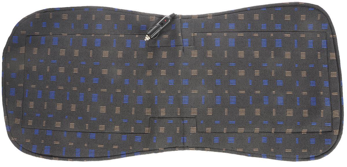 Накидка на сиденье Главдор, с функцией подогрева, 48 х 36 смGL-476_коричневые и синие квадратыНакидка на сиденье с подогревом Главдор - это отличный подарок для автолюбителей. Изделие изготовлено из специальной ткани, термоизоляционного материала и хлопчатобумажной подкладки. Под верхним слоем ткани располагается нагревательный элемент, равномерно распределяющий тепло по всей поверхности накидки. Использование изделия позволяет уменьшить риск заболеваний, связанных с переохлаждением.Потребляемая мощность: 12В.