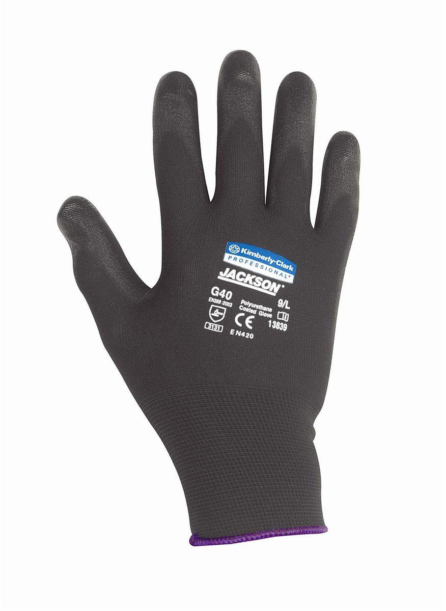 Перчатки хозяйственные Jackson Safety G40, размер 8 (M), цвет: черный, 60 пар13838Ассортимент перчаток для защиты рук от механических воздействий – повышают безопасность труда и сокращают затраты. Идеальное решение, обеспечивающее защиту СИЗ категории II (CE Intermediate) при выполнении операций на производственных участках, в машиностроении, строительстве и любых других универсальных работах. Высокий 4-й уровень стойкости к истиранию (согласно EN 388). Хорошая защита от механических травм и порезов при повышенной тактильной чувствительности, позволяющей работать с мелкими деталями. Воздухопроницаемость материала благодаря пенному нитриловому покрытию. Тыльная часть из бесшовного вязаного нейлона обеспечивает воздухопроницаемость материала.Формат поставки: перчатки с индивидуальным дизайном для левой и правой руки; пять размеров с цветовой кодировкой манжет; гладкое нитриловое покрытие ладони обеспечивает превосходный сухой захват; тыльная часть из бесшовного вязаного нейлона для воздухопроницаемости и комфорта.Размеры:13837 - 7 (S)13838 - 8 (M)13839 - 9 (L)13840 - 10 (XL)13841 - 11 (XXL)