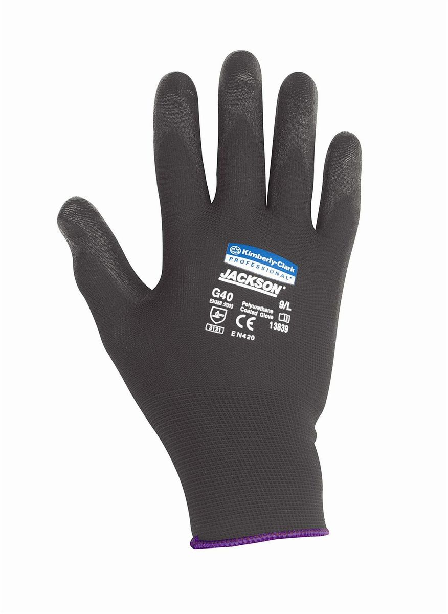 Перчатки хозяйственные Jackson Safety G40, размер 10 (XL), цвет: черный, 60 пар13840Ассортимент перчаток для защиты рук от механических воздействий – повышают безопасность труда и сокращают затраты. Идеальное решение, обеспечивающее защиту СИЗ категории II (CE Intermediate) при выполнении операций на производственных участках, в машиностроении, строительстве и любых других универсальных работах. Высокий 4-й уровень стойкости к истиранию (согласно EN 388). Хорошая защита от механических травм и порезов при повышенной тактильной чувствительности, позволяющей работать с мелкими деталями. Воздухопроницаемость материала благодаря пенному нитриловому покрытию. Тыльная часть из бесшовного вязаного нейлона обеспечивает воздухопроницаемость материала.Формат поставки: перчатки с индивидуальным дизайном для левой и правой руки; пять размеров с цветовой кодировкой манжет; гладкое нитриловое покрытие ладони обеспечивает превосходный сухой захват; тыльная часть из бесшовного вязаного нейлона для воздухопроницаемости и комфорта.Размеры:13837 - 7 (S)13838 - 8 (M)13839 - 9 (L)13840 - 10 (XL)13841 - 11 (XXL)