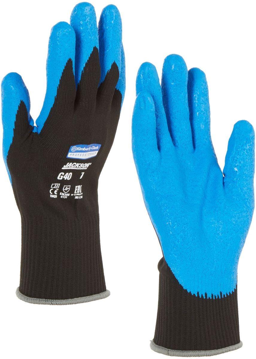 Перчатки хозяйственные Jackson Safety G40, размер 9 (L), цвет: синий, черный, 60 пар40227Ассортимент перчаток для защиты рук от механических воздействий – повышают безопасность труда и сокращают затраты. Идеальное решение, обеспечивающее защиту СИЗ категории II (CE Intermediate) при выполнении операций на производственных участках, в машиностроении, строительстве и любых других универсальных работах. Высокий 4-й уровень стойкости к истиранию (согласно EN 388). Хорошая защита от механических травм и порезов при повышенной тактильной чувствительности, позволяющей работать с мелкими деталями. Воздухопроницаемость материала благодаря пенному нитриловому покрытию. Тыльная часть из бесшовного вязаного нейлона обеспечивает воздухопроницаемость материала.Формат поставки: перчатки с индивидуальным дизайном для левой и правой руки; пять размеров с цветовой кодировкой манжет; гладкое нитриловое покрытие ладони обеспечивает превосходный сухой захват; тыльная часть из бесшовного вязаного нейлона для воздухопроницаемости и комфорта.Размеры:40225 - 7 (S)40226 - 8 (M)40227 - 9 (L)40228 - 10 (XL)40229 - 11 (XXL)