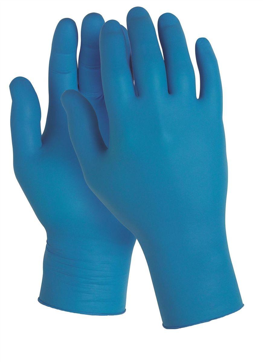 Перчатки хозяйственные Kleenguard G10 Arctic Blue Nitrile, размер 10 (XL), цвет: синий, 900 шт90099Ассортимент нитриловых защитных перчаток общего применения. Универсальные тонкие нитриловые перчатки - идеальное решение, обеспечивающее защиту СИЗ категории I (CE Simple) в автомобильной промышленности, в машиностроении, при работах на складах, выполнении инженерно-технических работ, очистки, в пищевой промышленности и на предприятиях общественное питания. Прочные и эргономичные перчатки с улучшенным захватом и повышенной тактильной чувствительностью для работ с мелкими деталями. Могут быть использованы в пищевой промышленности или HoReCa.Формат поставки: перчатки с универсальным дизайном для обеих рук; толщина 0,06 мм; не содержат присыпку и латекс; усиленная манжета для дополнительной прочности, рельефная поверхность пальцев для лучшего захвата; широкий ассортимент размеров - от XS до XL - обеспечивает комфортное ношение.Размеры:90095 - XS (6)90096 - S (7)90097 - M (8)90098 - L (9)90099 - XL (10)
