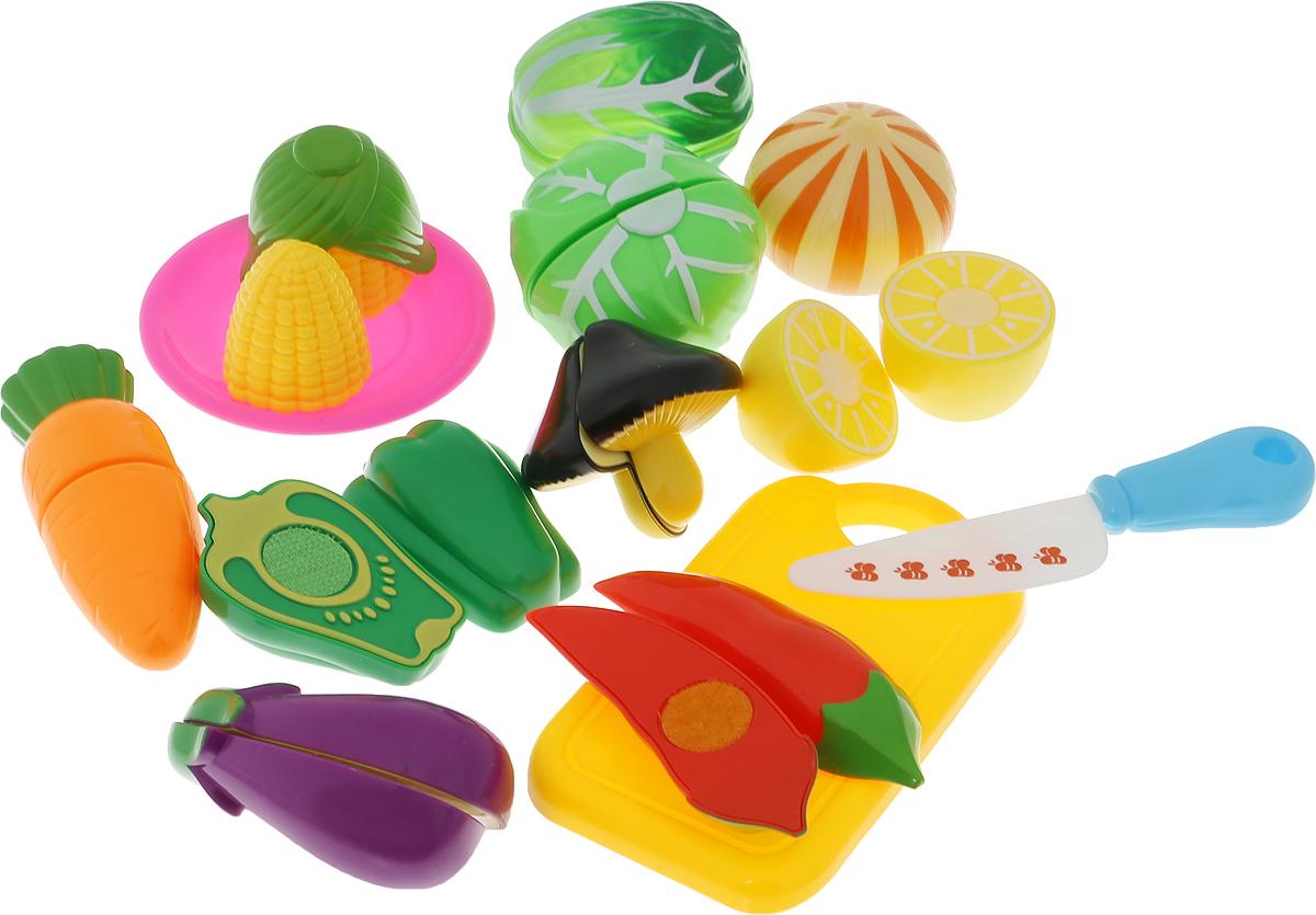 ABtoys Игрушечный набор продуктов Овощи 13 предметов муляжи для занятий с беременными