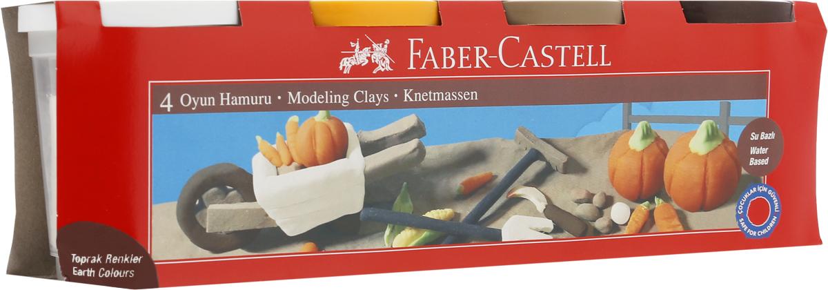 Faber-Castell Пластилин 4 цвета120046_белый, оранжевый, светло-коричневый, темно-коричневыйВ наборе Faber-Castell находятся 4 баночки с пластилином 4 разных цветов.Пластилин обладает яркими цветами, безопасен при использовании и изготовлен на водной основе. Он имеет мягкую и эластичную фактуру, не прилипает к рукам и не крошится.Набор пластилина откроет юным художникам новые горизонты для творчества, поможет отлично развить мелкую моторику рук, цветовое восприятие, фантазию и воображение.