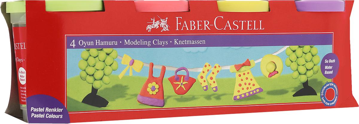 Faber-Castell Пластилин 4 цвета 120045120045_сиреневый, желтый, коралловый, салатовыйВ наборе Faber-Castell находятся 4 баночки с пластилином 4 разных цветов.Пластилин обладает яркими неоновыми цветами, безопасен при использовании и изготовлен на водной основе. Он имеет мягкую и эластичную фактуру, не прилипает к рукам и не крошится.Набор пластилина откроет юным художникам новые горизонты для творчества, поможет отлично развить мелкую моторику рук, цветовое восприятие, фантазию и воображение.