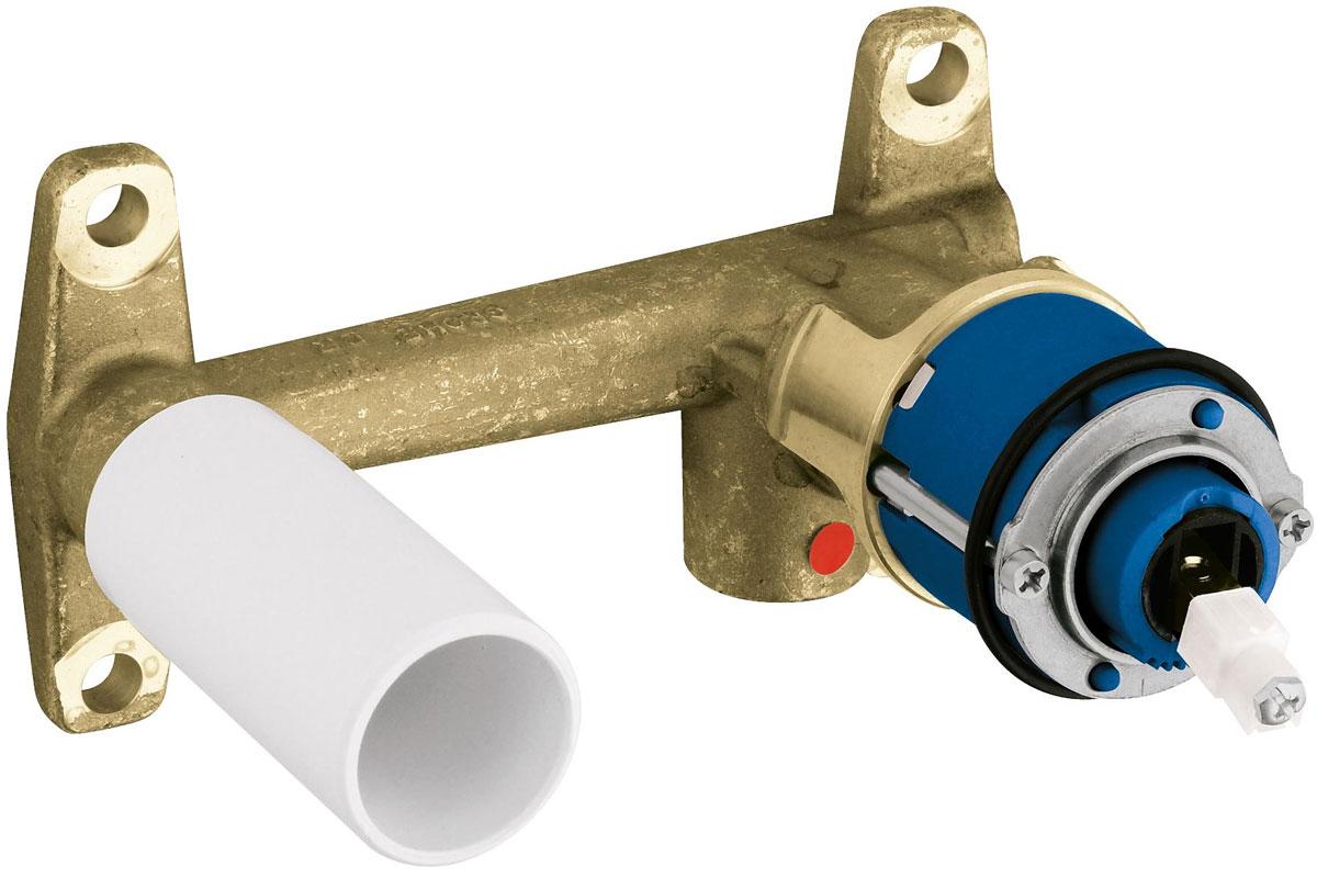 Смеситель для раковины Grohe, на 2 отверcтия, со встроенным механизмом33769000Смеситель для раковины Grohe на 2 отверcтия имеет встроенный механизм. Он предназначен для скрытого монтажа. Без комплекта верхней монтажной части. Диаметр керамического картриджа: 46 мм. Глубина монтажа: 45-75 мм.