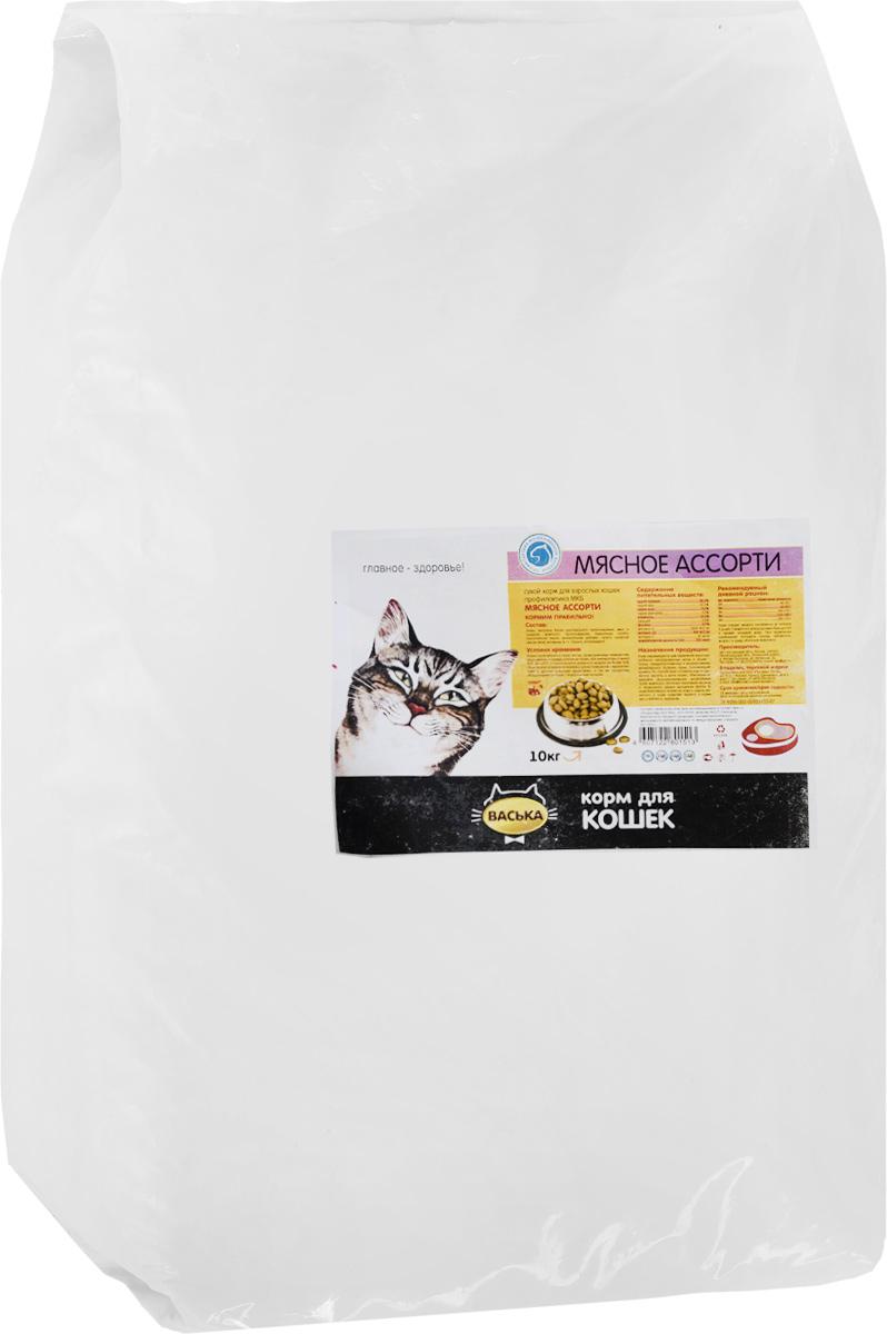 Корм сухой для кошек Васька, для профилактики мочекаменной болезни, мясное ассорти, 10 кг ковролин ideal echo 166 5м
