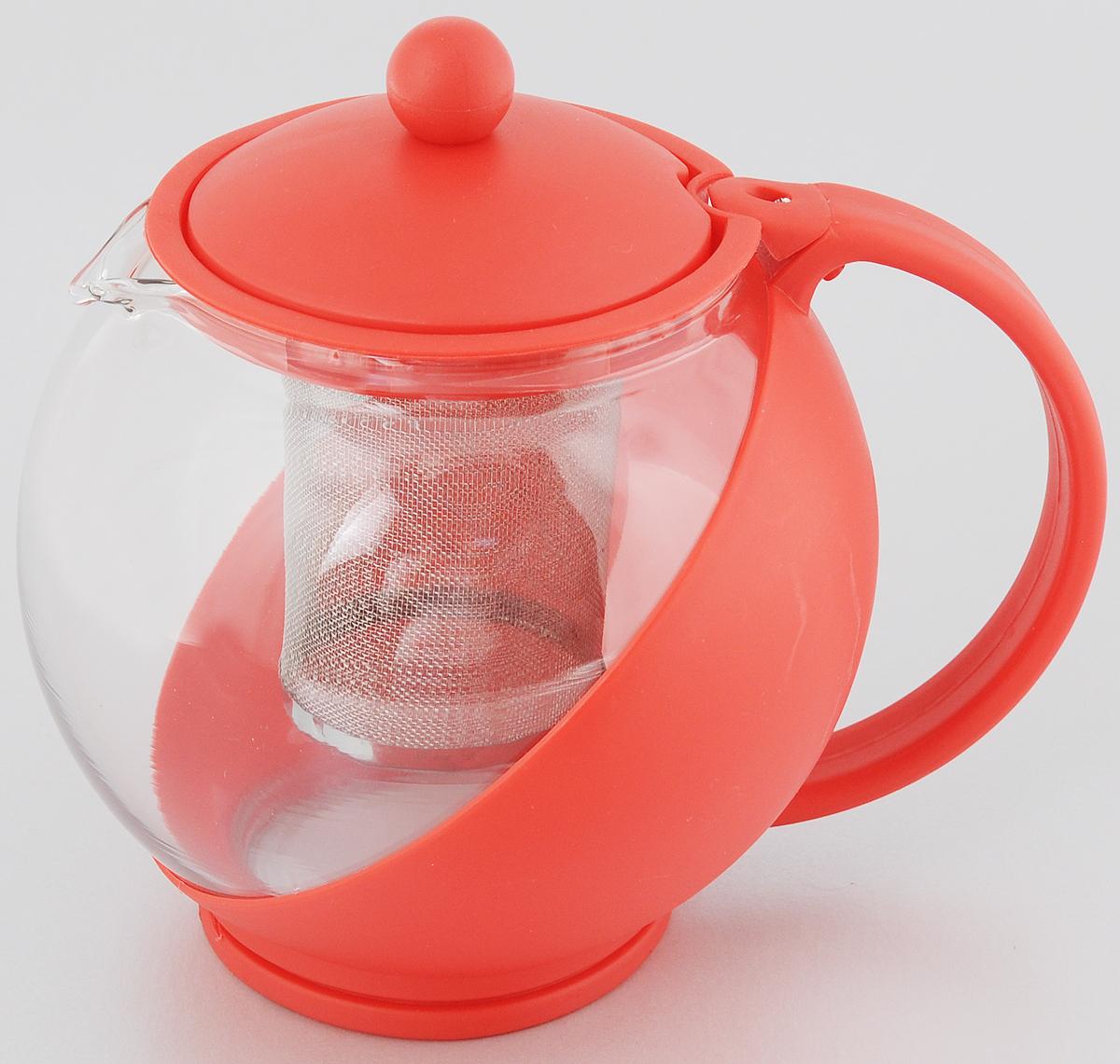 Чайник заварочный Bekker Koch, с фильтром, цвет: красный, 1,25 л23081Заварочный чайник Bekker Koch изготовлен извысококачественного пластика и жаропрочногостекла. Чайник имеет металлический фильтр.Чайник оснащенудобной пластиковой ручкой. В нем вы можете приготовить вкусный и ароматный чай.Заварочный чайник Bekker Koch займетдостойное место на вашей кухне. Объем: 1,25 л. Высота чайника (без учета крышки): 14 см. Диаметр (по верхнему краю): 9,5 см.