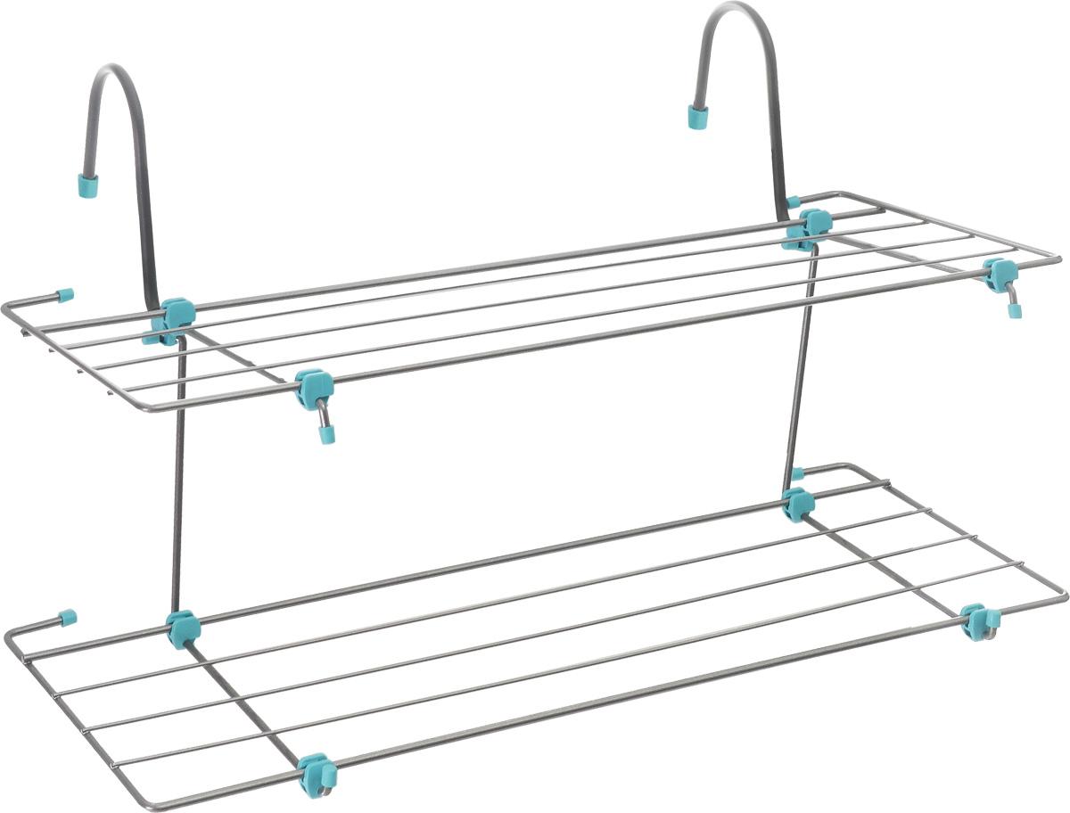 Сушилка для белья Nika, навесная, двухъярусная, 65 х 23,5 х 41 смСБ6-65Двухъярусная сушила Nika изготовлена из металла. Сушилка крепится на батарею с помощью двух крючков. Подходит для всех видов батарей центрального отопления толщиной до 8 см. Также может устанавливаться на ванну, душевую кабину, дверь и балкон. Каждый ярус сушилки содержит 5 планок, что позволяет развесить до 5 кг одежды. В сложенном состоянии занимает минимум места. Размер сушилки (в разложенном виде): 65 х 23,5 х 41 см. Размер сушилки (в сложенном виде): 65 х 23,5 х 2 см.