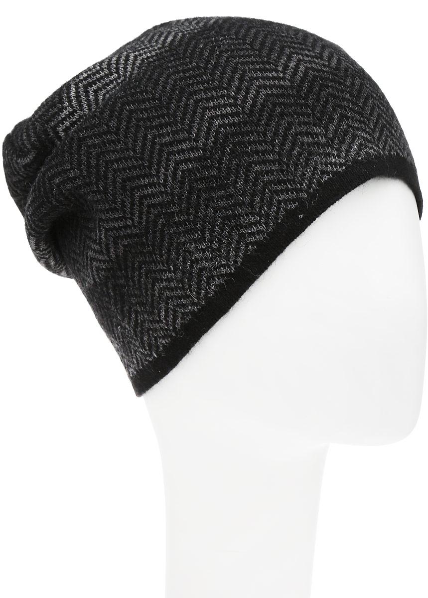 Шапка мужская Venera, цвет: черный, серый. 9807787-02. Размер универсальный