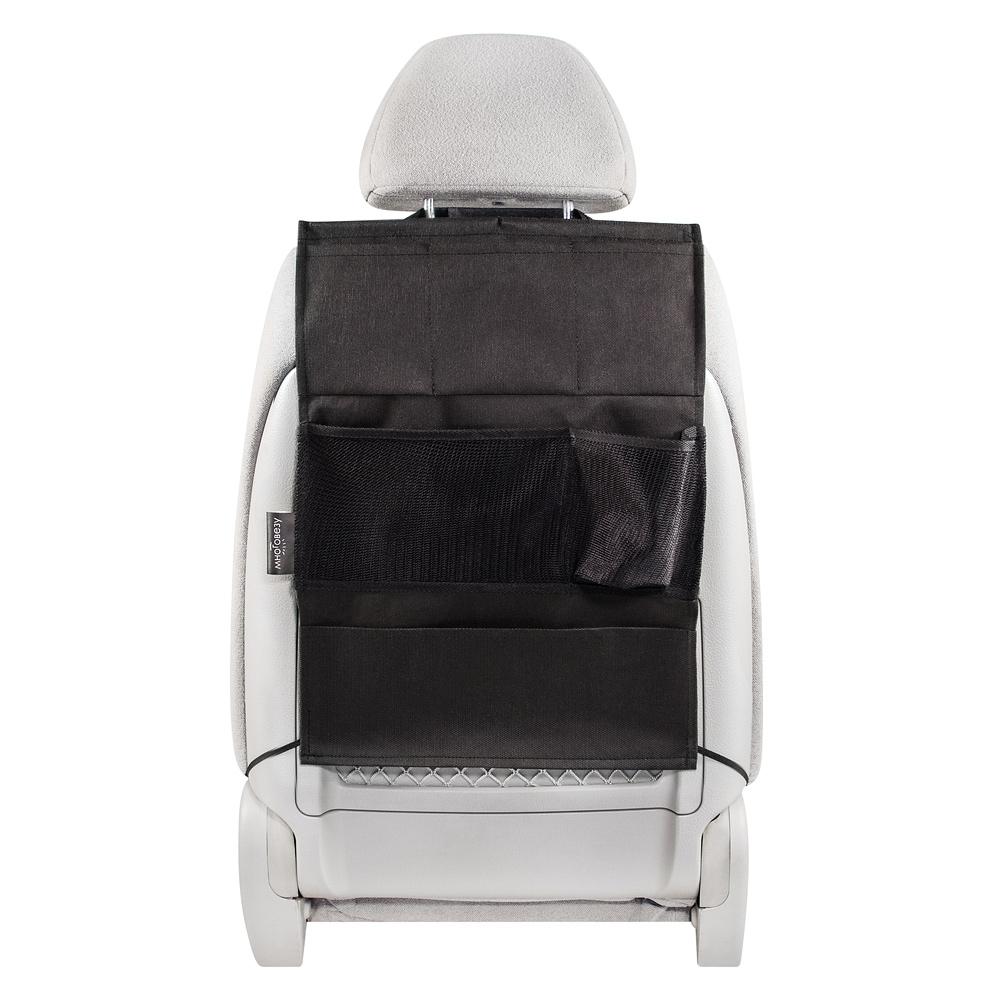 Органайзер Много Везу, на спинку сиденья, цвет: черный, 52 х 37 см. М 111М 111Удобный и вместительный органайзер на спинку сиденья Много Везу помогает компактно разместить множество различных вещей в салоне автомобиля. Жесткий верхний каркас позволяет всегда держать форму органайзера, а универсальный размер подойдет на сиденье любого автомобиля. Органайзер состоит из шести карманов разных размеров.Размеры: 52 х 37 см