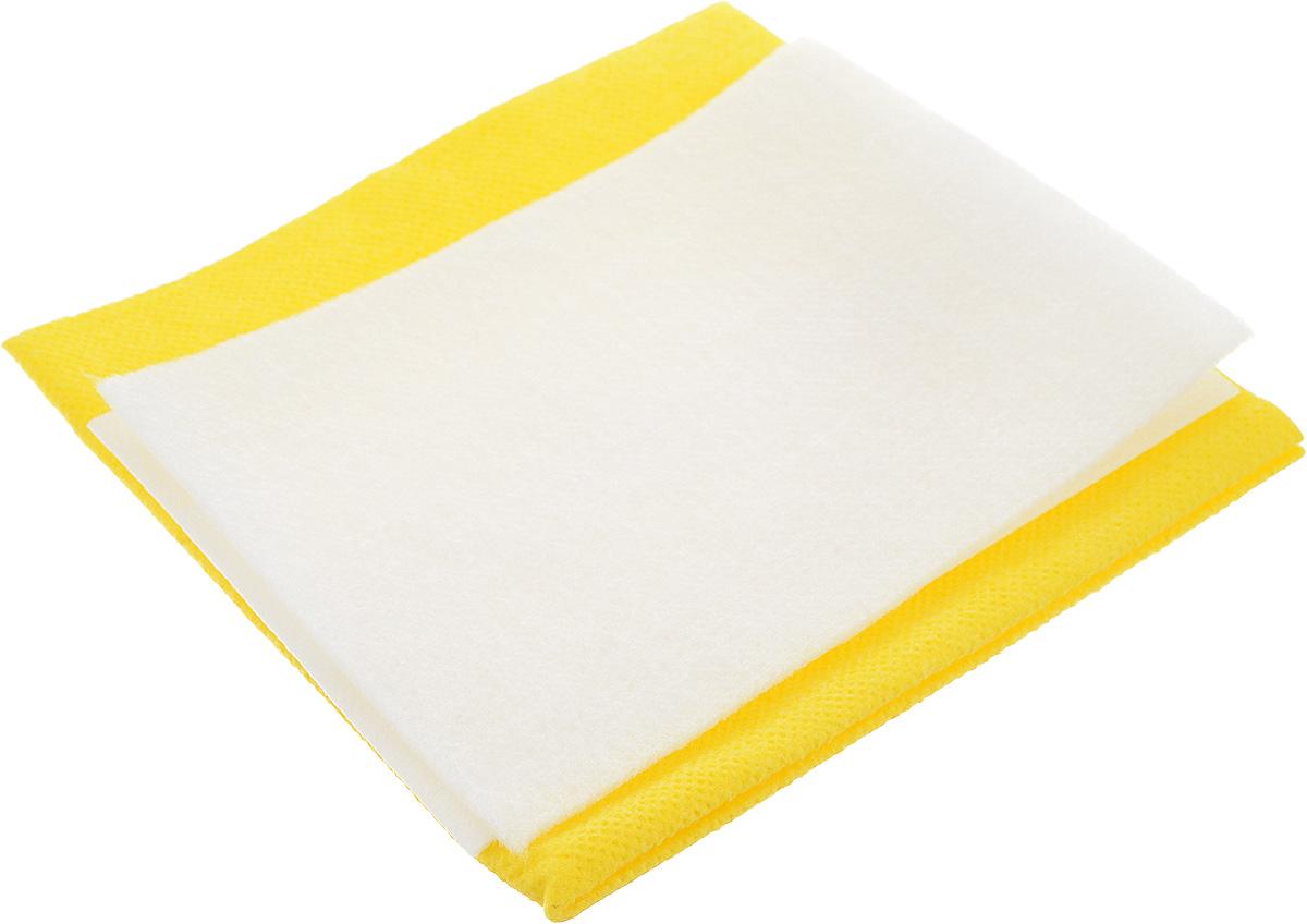 Салфетка автомобильная Главдор, для протирки стекол, цвет: белый, желтый, 3 шт наушники dialog ep 121v черный
