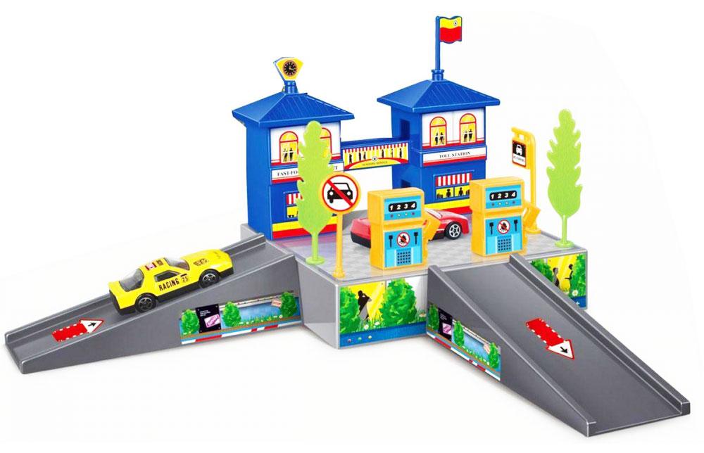 Dave Toy Игровой набор Заправочная станция цвет машины желтый motormax игрушечный трек мини заправочная станция