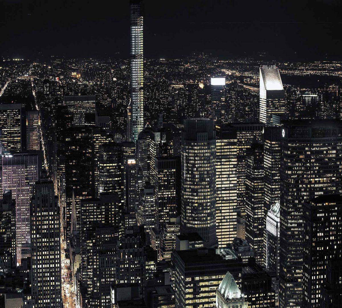 Фотообои Milan Ночные огни, текстурные, 300 х 270 см. M 302