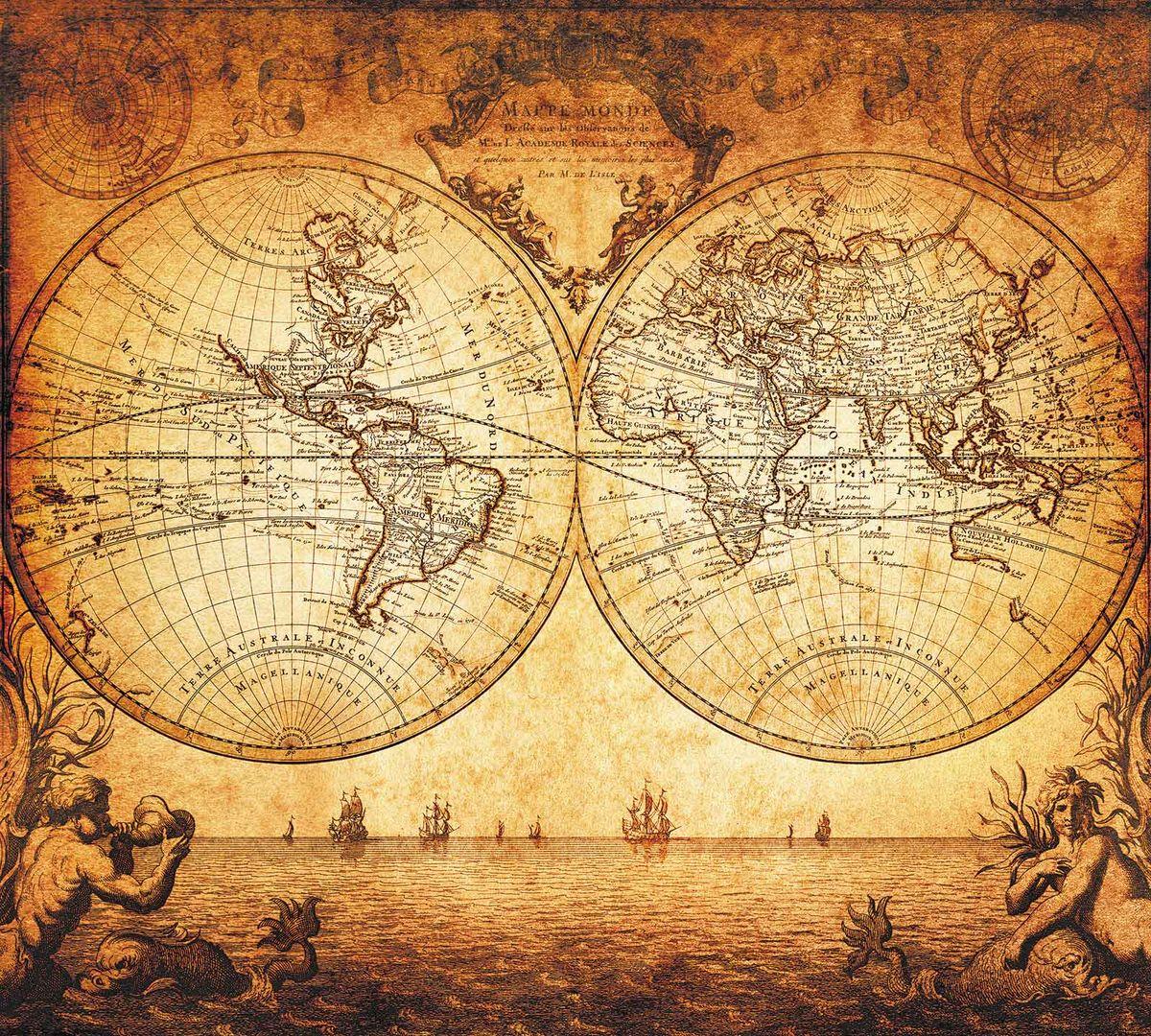 Фотообои Milan Старинная карта, текстурные, 300 х 270 см. M 310
