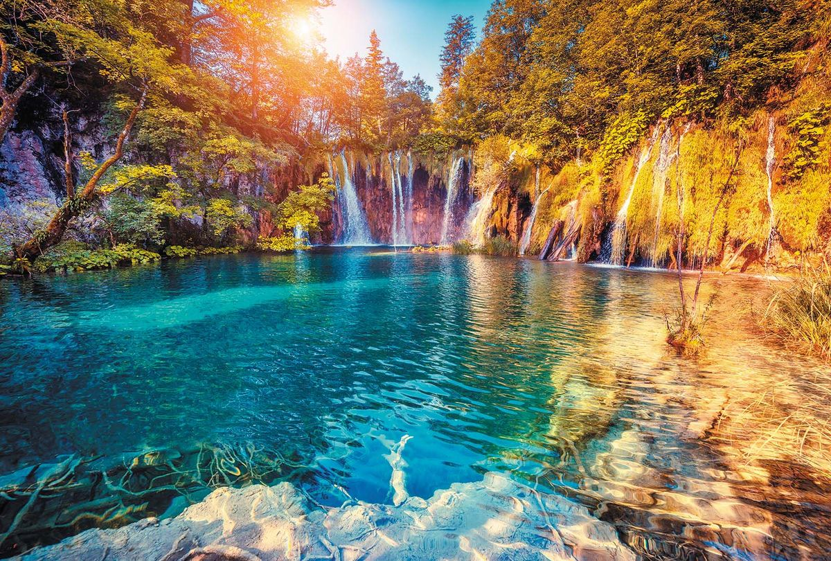 Фотообои Milan Лазурный водопад, текстурные, 400 х 270 см. M 408