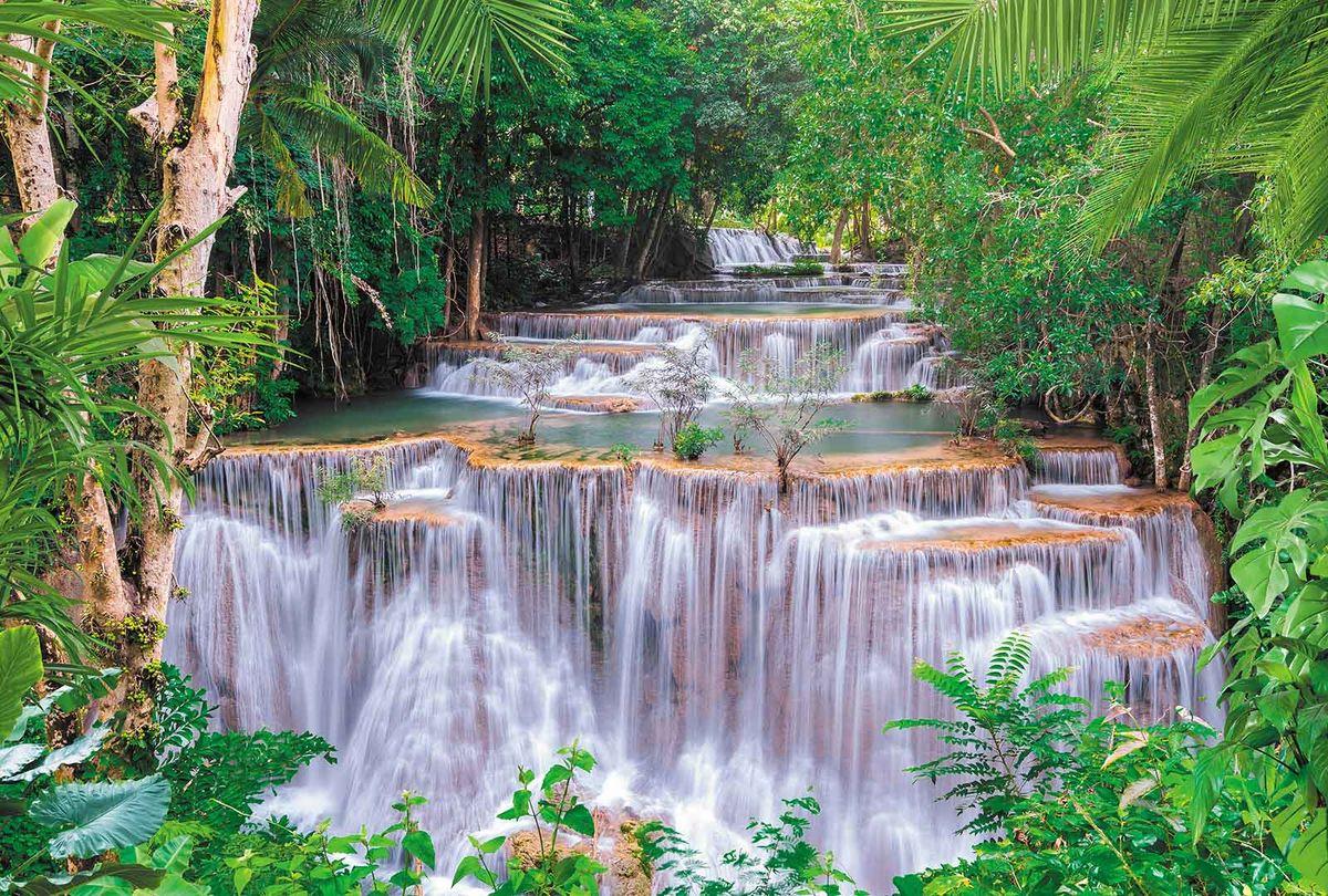 Фотообои Milan Спокойный водопад, текстурные, 200 х 135 см. M 631 фотообои milan мостик у цветущей вишни текстурные 200 х 135 см m 629