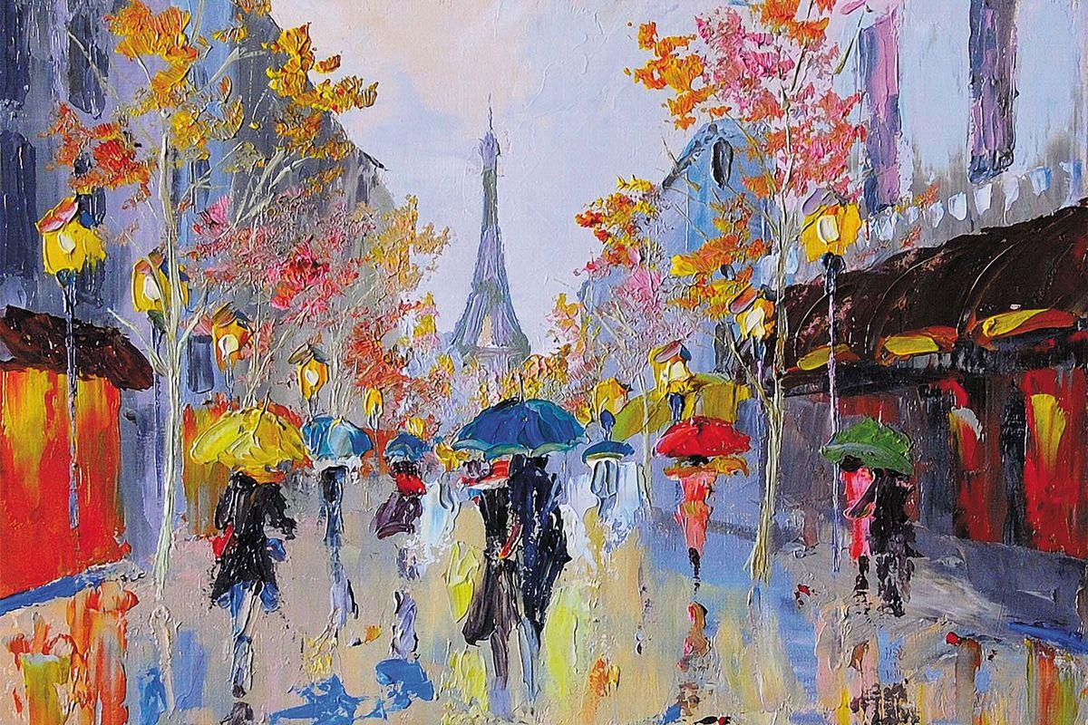 Фотообои Milan Дождливый Париж, текстурные, 300 х 200 см. M 712 фотообои milan мостик у цветущей вишни текстурные 200 х 135 см m 629