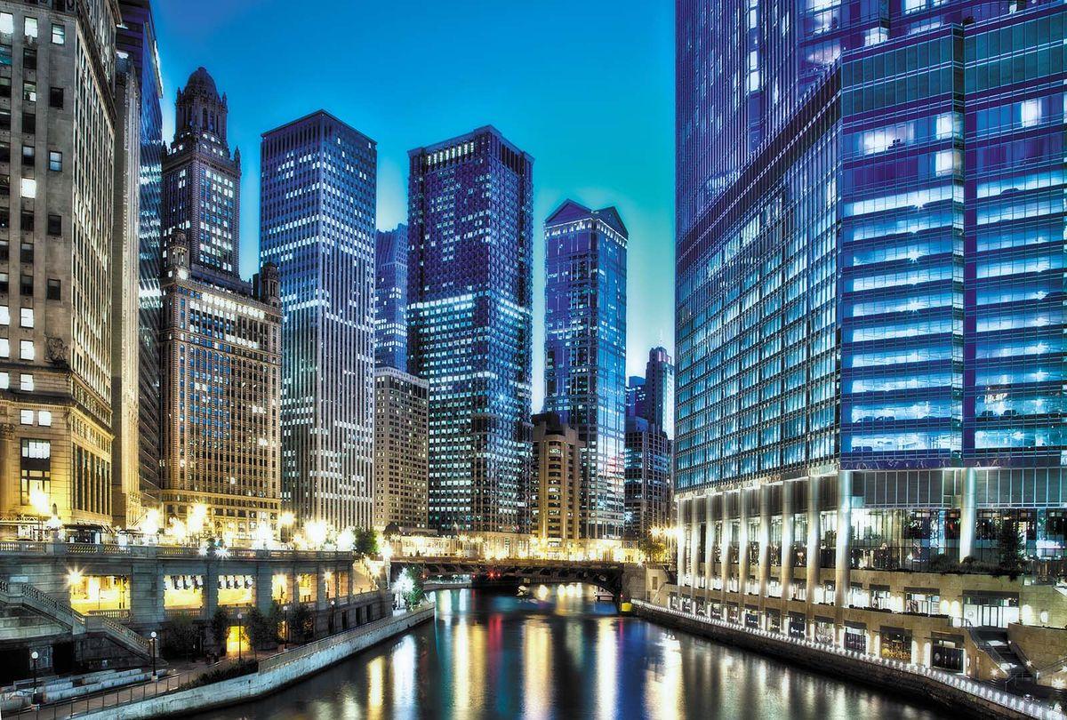 Фотообои Milan Вечер в деловом центре, текстурные, 300 х 200 см. M 726 фотообои milan мостик у цветущей вишни текстурные 200 х 135 см m 629