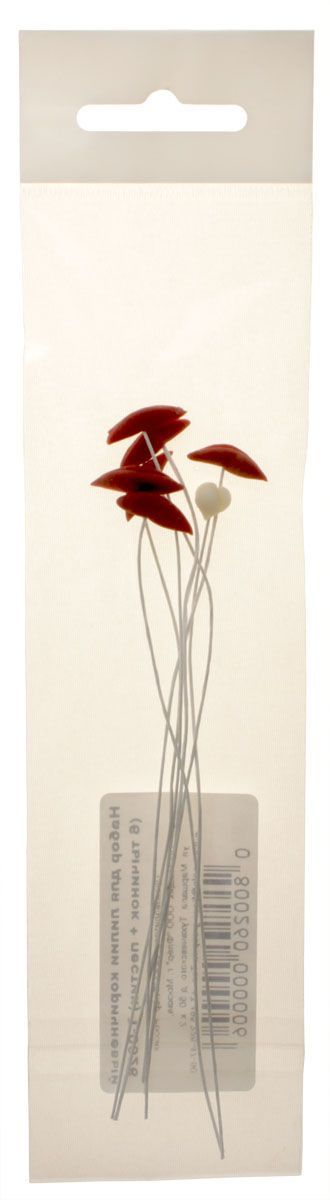 Набор для лилии Fleur, 6 тычинок, пестик, цвет: коричневый. Т-0026AM549010Набор для лилии Fleur используется при создании сердцевинок цветов. Изделия выполнены из бумаги и полимерной глины. В наборе 6 тычинок и пестик.