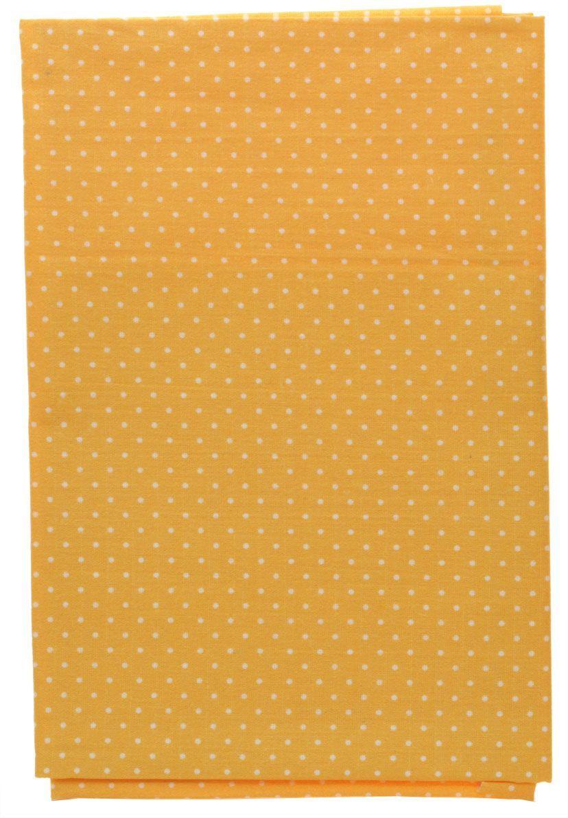 Ткань Кустарь Мелкий горошек, цвет: рыжий, 48 х 50 см