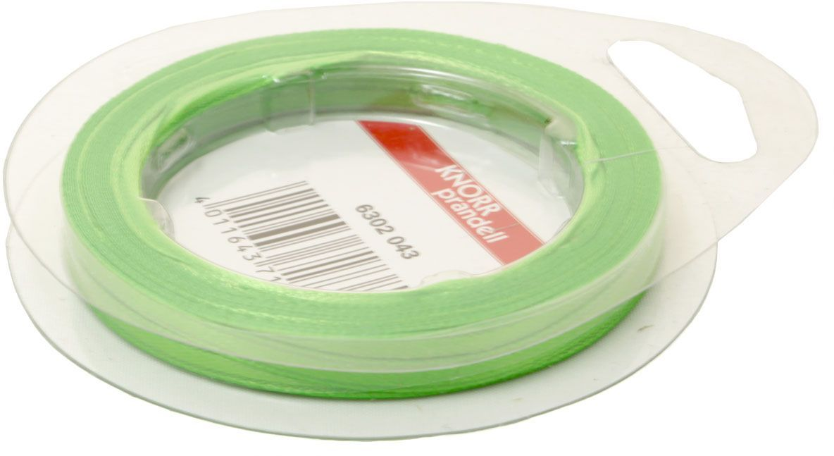 Лента декоративная Heyda, цвет: зеленый, 3 мм х 10 м2163020-43Атласная декоративная лента Heyda применяется для декорирования.Ширина ленты: 3 мм.Длина ленты: 10 м.
