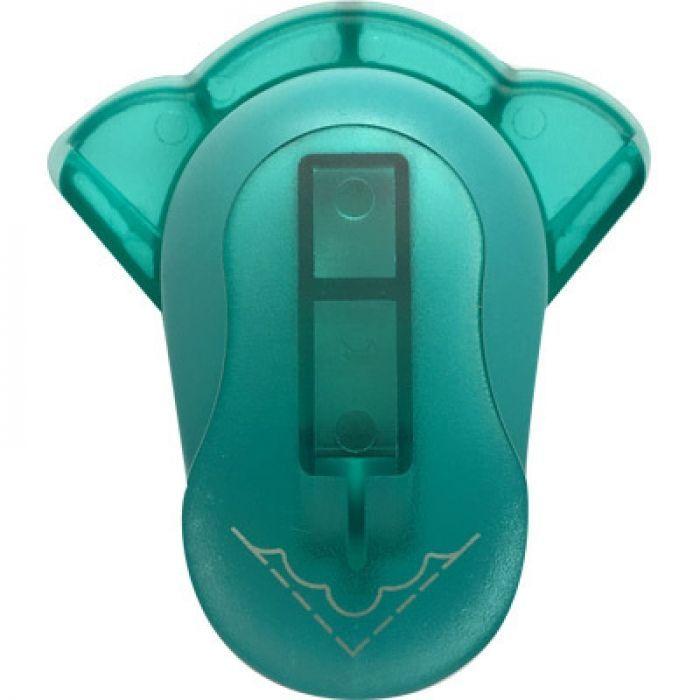 Дырокол фигурный Hobbyboom, угловой, цвет: бирюзовый, №46, 2,5 смKM-8810M-046Фигурный угловой дырокол Hobbyboom поможет вам легко, просто и аккуратно вырезать много одинаковых мелких фигурок. Рисунок прорези указан на ручке дырокола. Режущие части компостера закрыты пластмассовым корпусом, что обеспечивает безопасность для детей. Вырезанные фигурки можно использовать для украшения открыток, карточек, коробочек и многого другого. Угловой дырокол подходит для разных техник: декупажа, скрапбукинга и декорирования. Рекомендуемая плотность бумаги - 140 г/м2.При применении на бумаге большей плотности или на картоне, дырокол быстро затупится. Чтобы заточить нож компостера, нужно прокомпостировать самую тонкую наждачку. Чтобы смазать режущий механизм - парафинированнную бумагу.