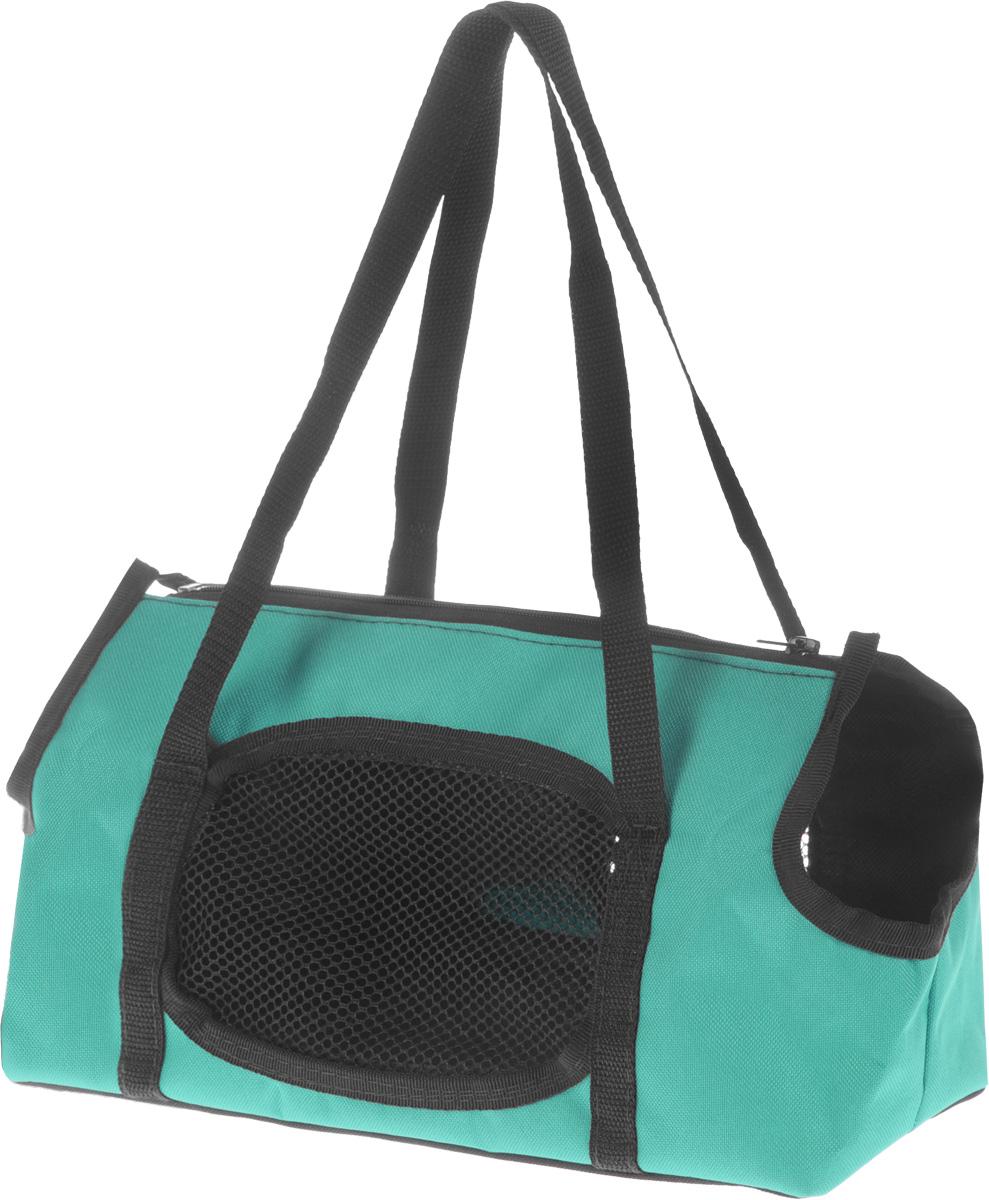 Сумка-переноска для животных Elite Valley Батискаф, с отверстием для головы, цвет: светло-зеленый. С-57 сумка переноска для животных elite valley конфетки 40 х 25 х 27 см