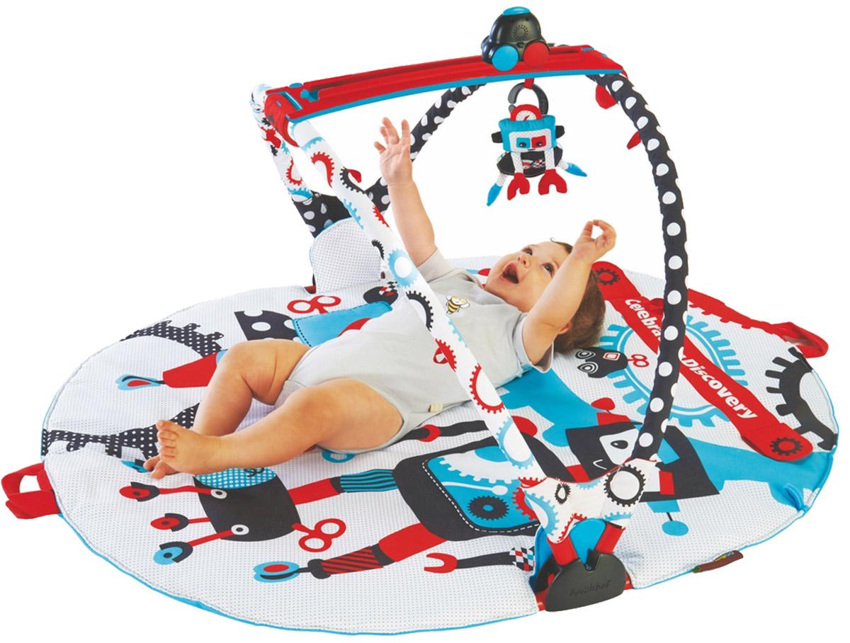 Yookidoo Интерактивный развивающий коврик Страна роботов с дугами - Игрушки для малышей