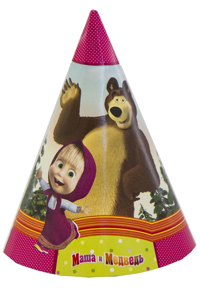 Веселая затея Колпак Маша и Медведь 6 шт маша и медведь колпак машины сказки 6 шт