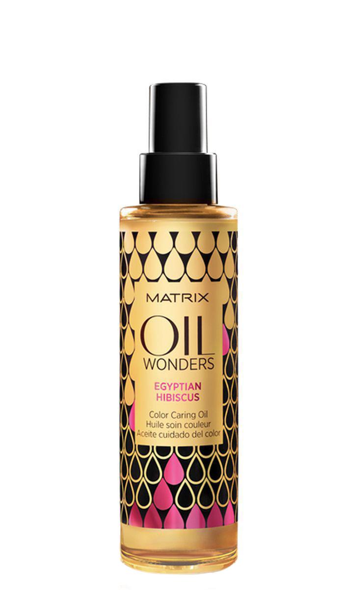 Matrix Oil Wonders Масло для окрашенных волос египетский гибискус, 150 млE2082200Масло для защиты цвета окрашенных волос Oil Wonders (Ойл Вандерс) содержит экстракт Египетского гибискуса. Отличается приятным ароматом, сохраняет яркость цвета окрашенных волос, обеспечивая им мягкость и невероятный блеск. Сохраняет яркость цвета окрашенных волос. На 75% больше блеска. Подходит для всех типов волос.