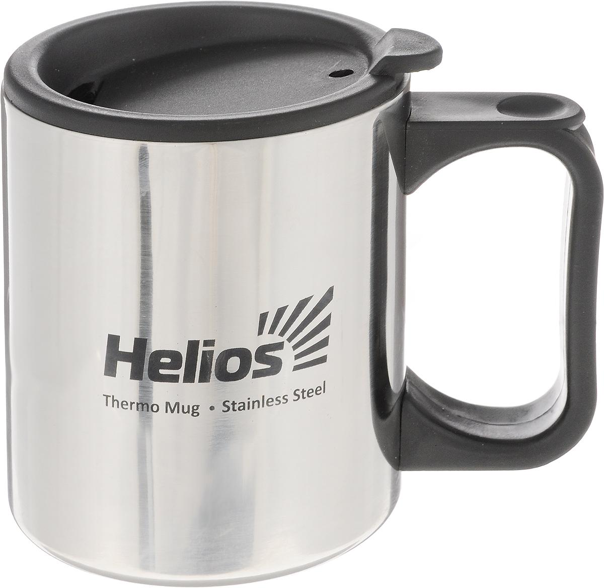 Термокружка HeliosHS TK-006,с крышкой-поилкой, 300 мл128983Термокружка Helios HS TK-006 предназначена специально для горячих и холодных напитков. Она изготовлена из высококачественной нержавеющей стали. Двойная стенка гарантирует долгое сохранение температуры и убережет от ожогов при заваривании чая или кофе. Крышка-поилка из термостойкого пластика предохраняет от проливания и не дает напитку остыть.Такая кружка прекрасно сохраняет свою целостность и первозданный вид даже при многократном использовании.Диаметр кружки (по верхнему краю): 7,8 см. Высота кружки (без учета крышки): 9 см.
