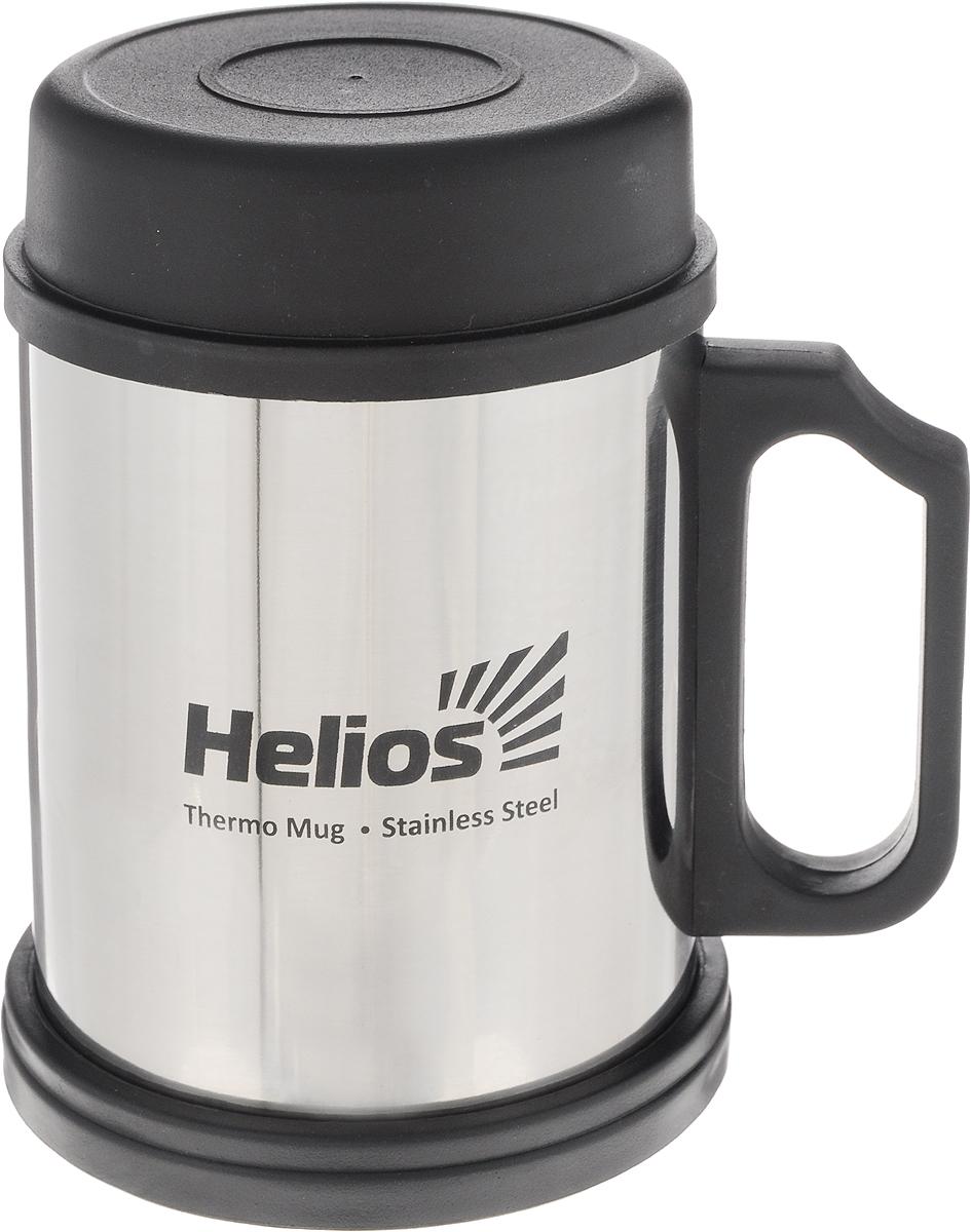 Термокружка Helios HS TK-003 ,с крышкой и подставкой, 300 мл - Туристическая посуда