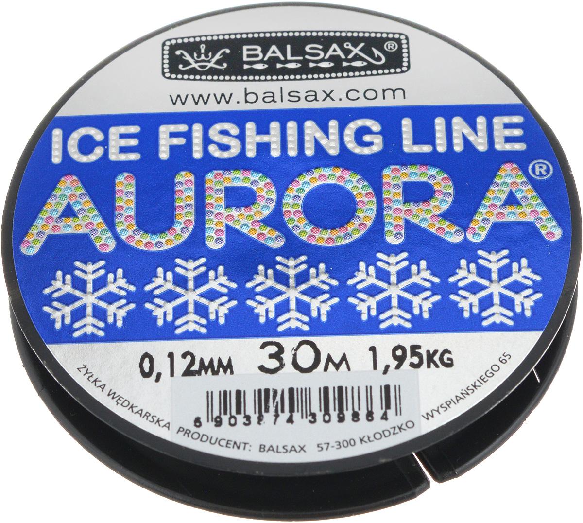 Леска зимняя Balsax Aurora, 30 м, 0,12 мм, 1,95 кг