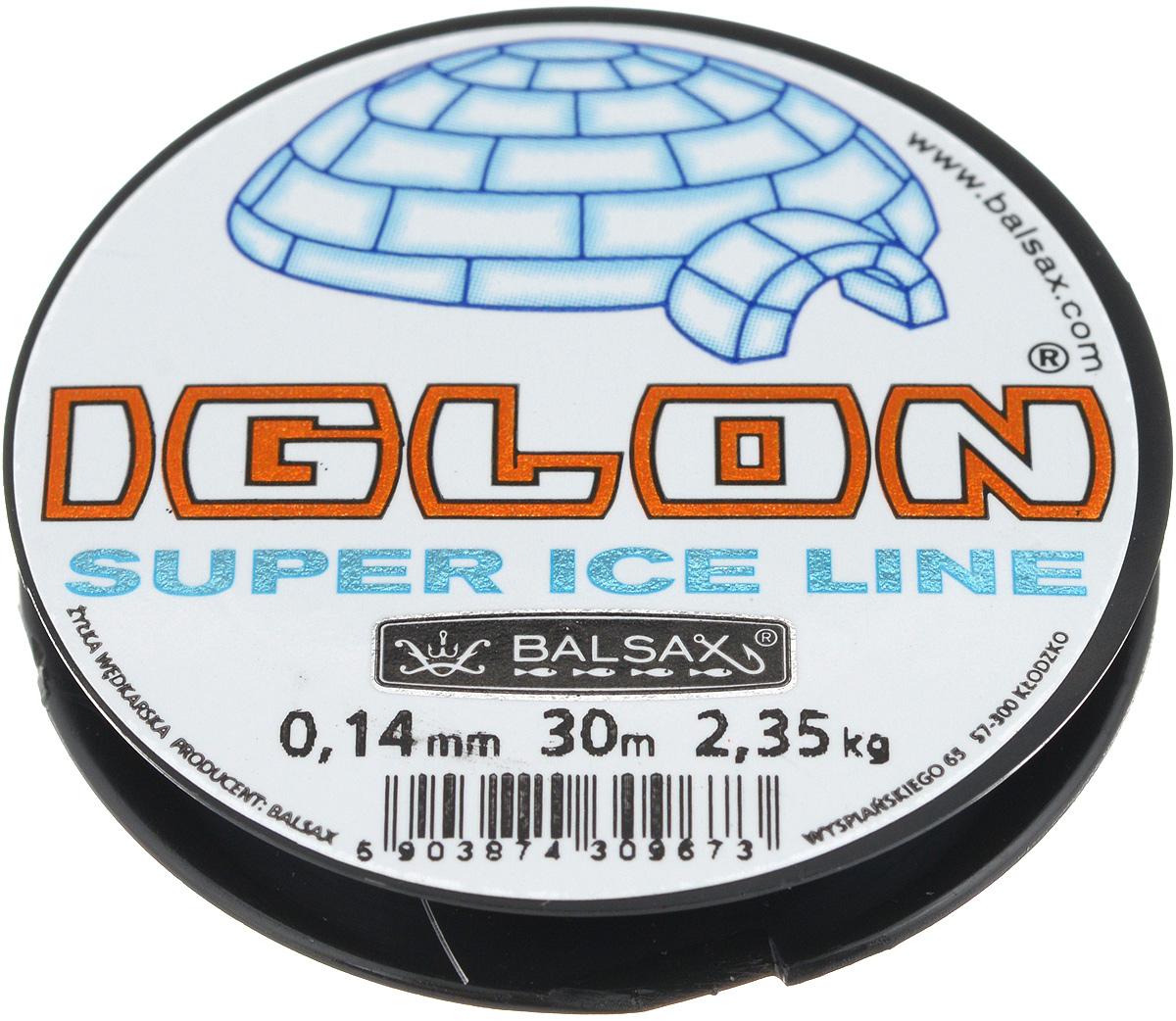 Леска зимняя Balsax Iglon, 30 м, 0,14 мм, 2,35 кг