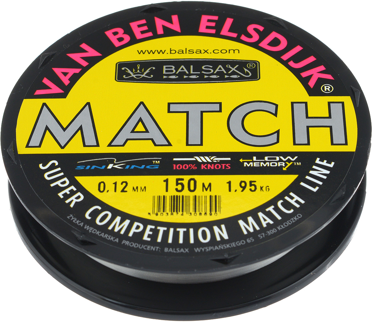 Леска Balsax Match VBE, 150 м, 0,12 мм, 1,95 кг