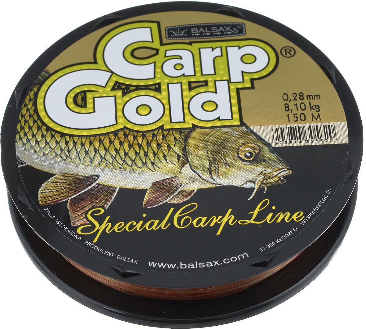 Леска Balsax Gold Carp, 150 м, 0,28 мм, 8,1 кг308-00028Balsax Gold Carp - это чувствительная леска для крупной рыбы. Отличная сопротивляемость разрыву и контролируемая растяжимость. Превосходно выдерживает на узлах максимальное напряжение, связанное с ловлей крупной рыбы. Благодаря точно подобранным цветам - незаменима при ловли карпа. Такая леска не впитывает воду и маловосприимчива к солнечным лучам.