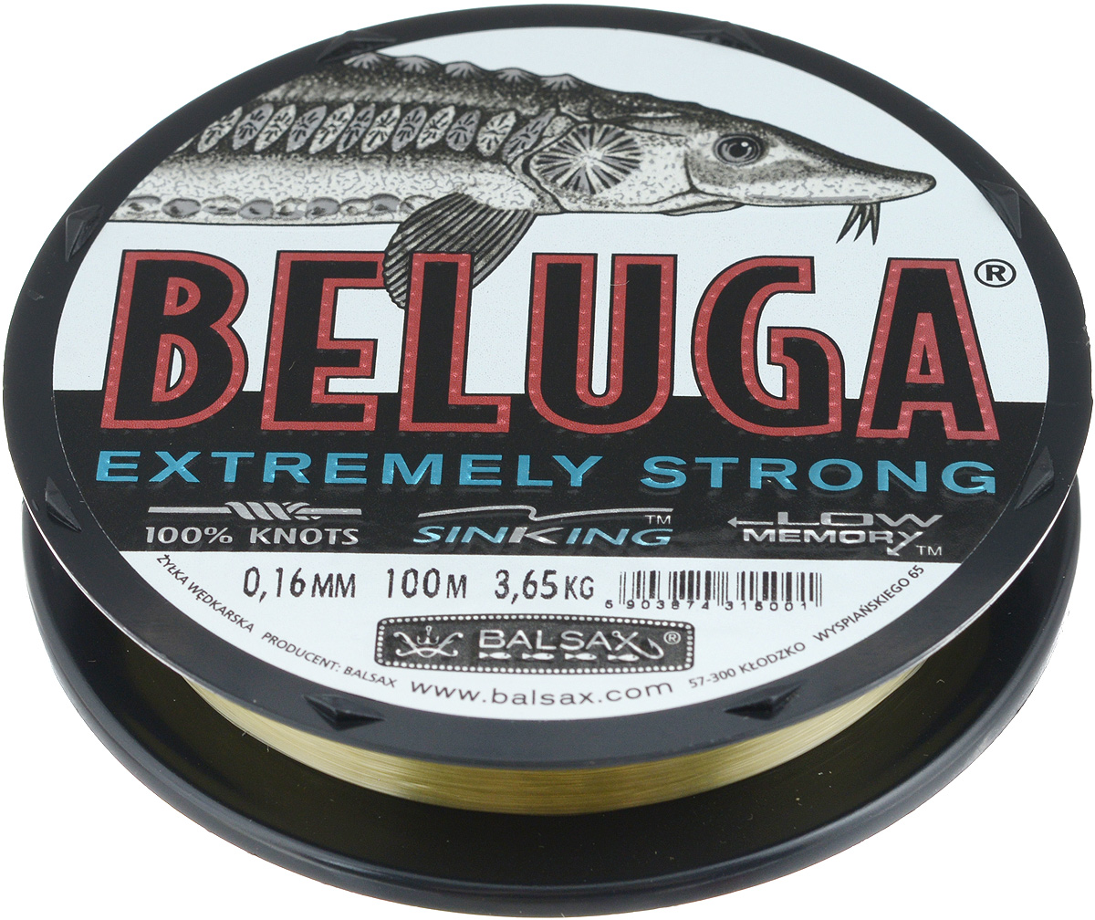 Леска Balsax Beluga, 100 м, 0,16 мм, 3,65 кг