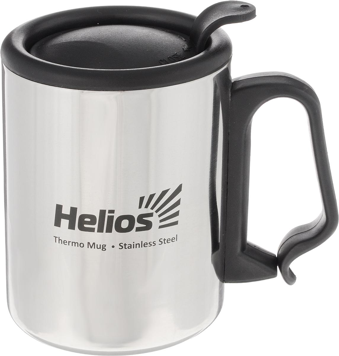 Термокружка HeliosHS TK-007,с крышкой-поилкой, 350 мл128984Термокружка Helios HS TK-007 предназначена специально для горячих и холодных напитков. Она изготовлена из высококачественной нержавеющей стали. Двойная стенка гарантирует долгое сохранение температуры и убережет от ожогов при заваривании чая или кофе. Крышка-поилка из термостойкого пластика предохраняет от проливания и не дает напитку остыть.Такая кружка прекрасно сохраняет свою целостность и первозданный вид даже при многократном использовании.Диаметр кружки (по верхнему краю): 8 см. Высота кружки (без учета крышки): 10 см.