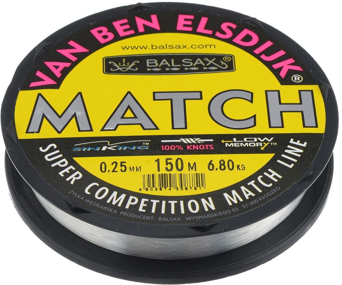 Леска Balsax Match VBE, 150 м, 0,25 мм, 6,8 кг