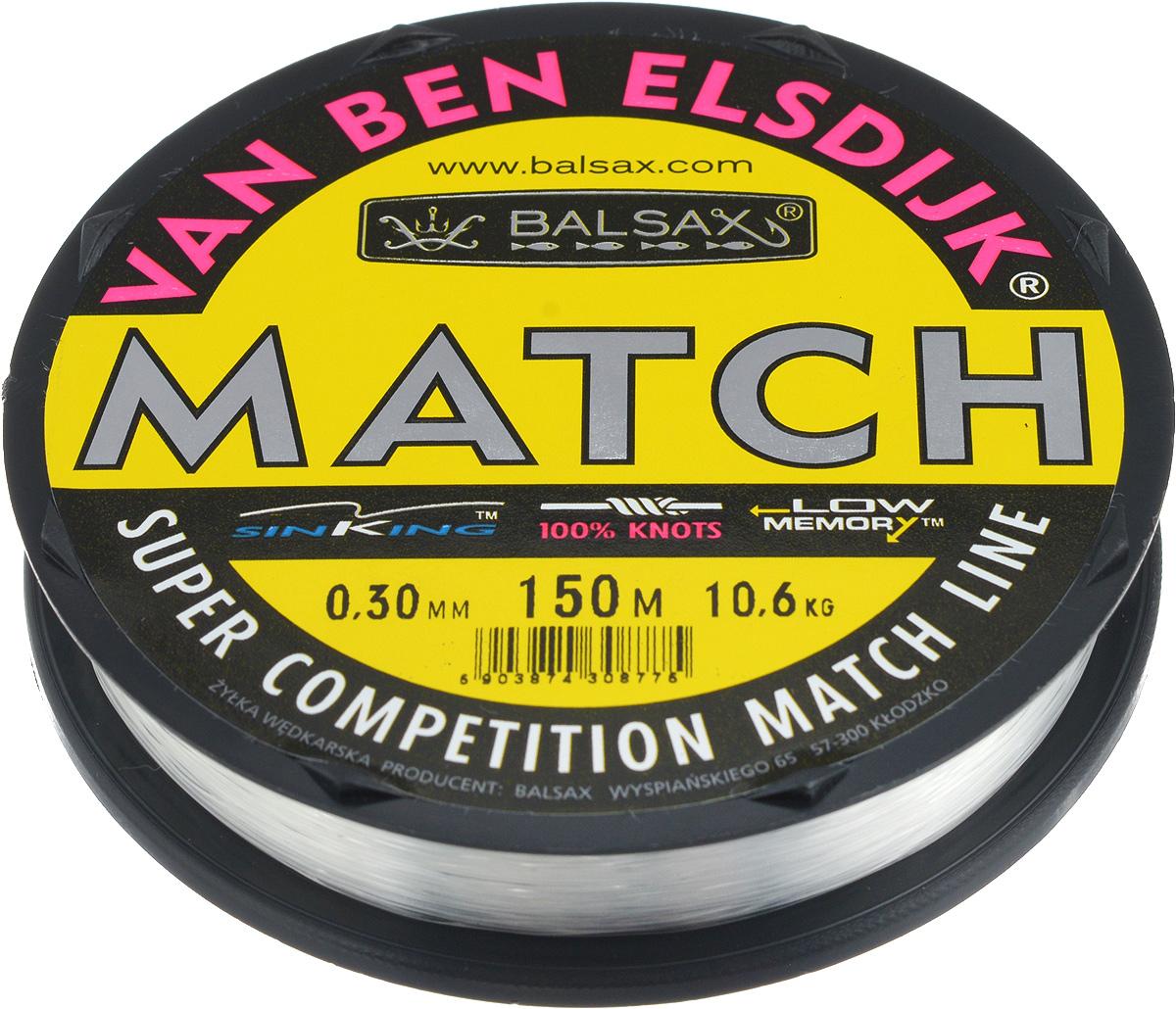 Леска Balsax Match VBE, 150 м, 0,30 мм, 10,6 кг304-10030Опытным спортсменам, участвующим в соревнованиях, нужна надежная леска, в которой можно быть уверенным в любой ситуации. Леска Balsax Match VBE отличается замечательной прочностью на узле и высокой сопротивляемостью к истиранию. Она была проверена на склонность к остаточным деформациям, чтобы убедиться в том, что она обладает наиболее подходящей растяжимостью, отвечая самым строгим требованиям рыболовов. Такая леска отлично подходит как для спортивного, так и для любительского рыболовства.