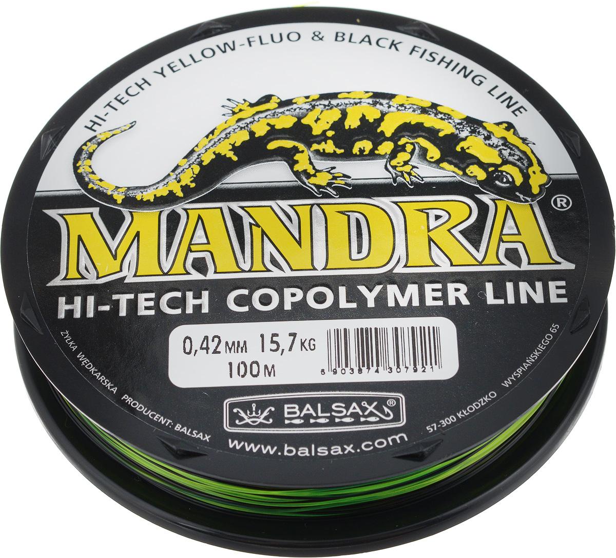 Леска Balsax Mandra, 100 м, 0,42 мм, 15,7 кг