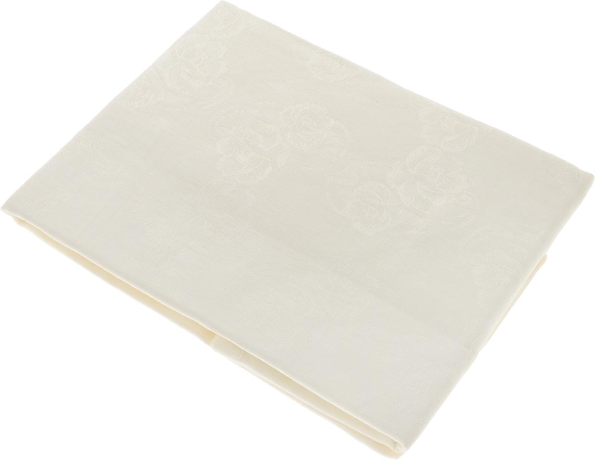 Скатерть Гаврилов-Ямский Лен, прямоугольная, цвет: молочный, 140 х 180 см. 1со6303-4 скатерть гаврилов ямский лен прямоугольная цвет бирюзовый 140 х 180 см