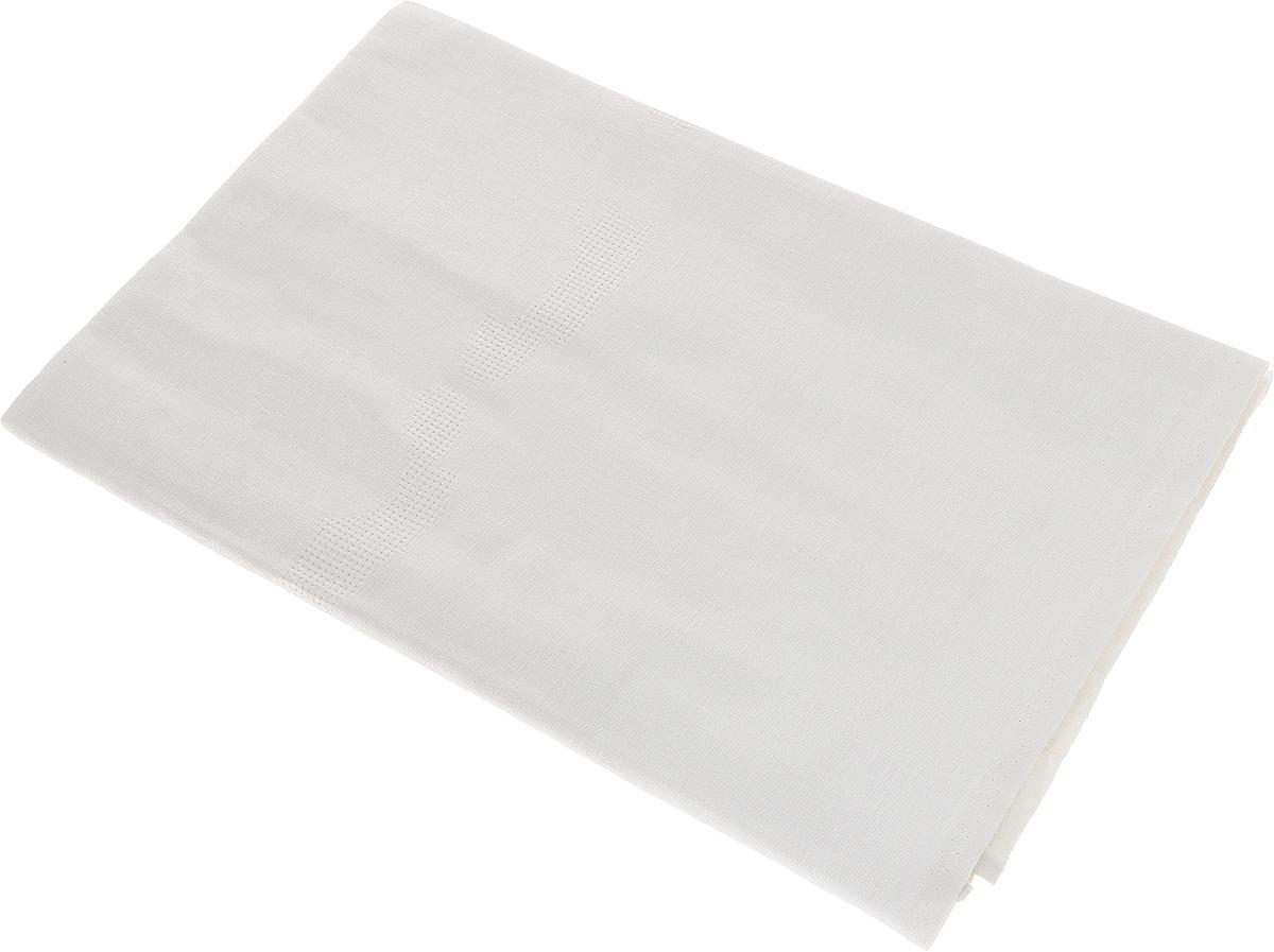 """Скатерть """"Гаврилов-Ямский Лен"""" выполнена из 53% льна и 47% хлопка и декорирована жаккардовым рисунком. Данное изделие является незаменимым аксессуаром для сервировки стола.  Лен - поистине уникальный, экологически чистый материал. Изделия из льна обладают уникальными потребительскими свойствами.Хлопок представляет собой натуральное волокно, которое получают из созревших плодов такого растения как хлопчатник. Качество хлопка зависит от длины волокна - чем длиннее волокно, тем ткань лучше и качественней.Такая скатерть очень практична и неприхотлива в уходе. Она создаст тепло и уют в вашем доме."""