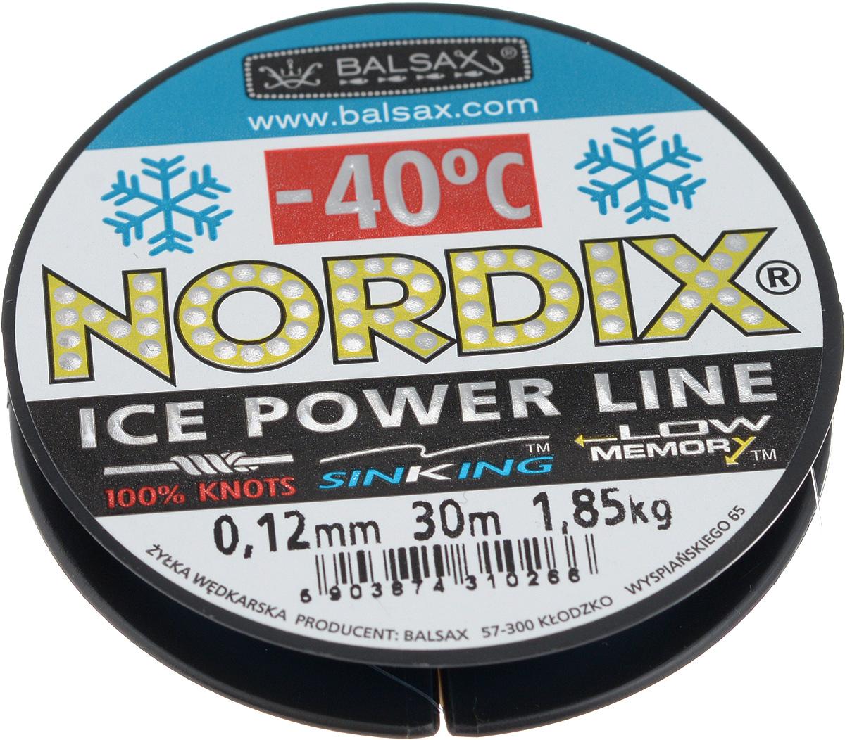 Леска зимняя Balsax Nordix, 30 м, 0,12 мм, 1,85 кг310-12012Леска Balsax Nordix изготовлена из 100% нейлона и очень хорошо выдерживает низкие температуры. Даже в самом холодном климате, при температуре вплоть до -40°C, она сохраняет свои свойства практически без изменений, в то время как традиционные лески становятся менее эластичными и теряют прочность.Поверхность лески обработана таким образом, что она не обмерзает и отлично подходит для подледного лова. Прочна в местах вязки узлов даже при минимальном диаметре.
