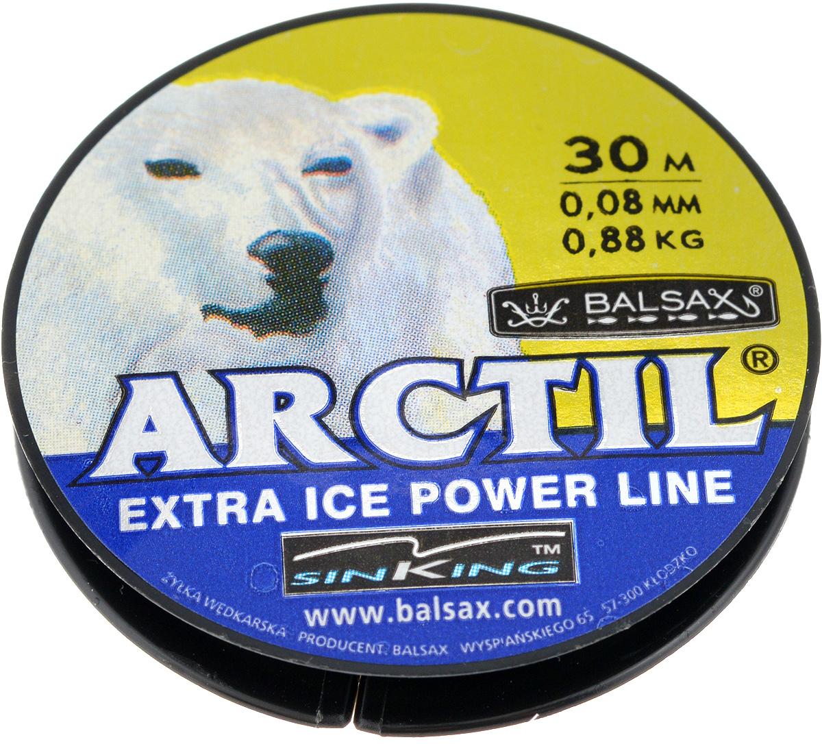 Леска зимняя Balsax Arctil, 30 м, 0,08 мм, 0,88 кг